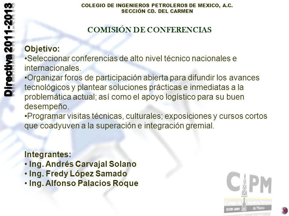 COMISIÓN DE CONFERENCIAS