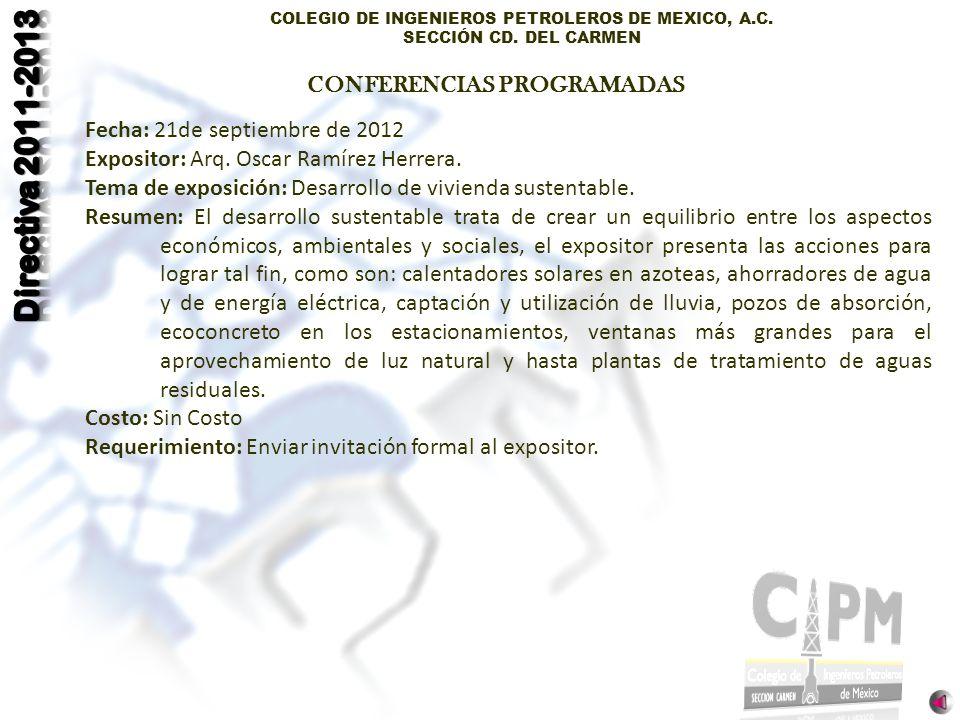 CONFERENCIAS PROGRAMADAS