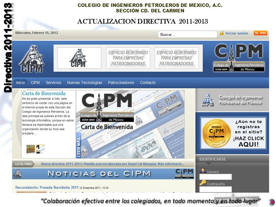 ACTUALIZACION DIRECTIVA 2011-2013