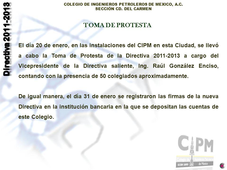 TOMA DE PROTESTA