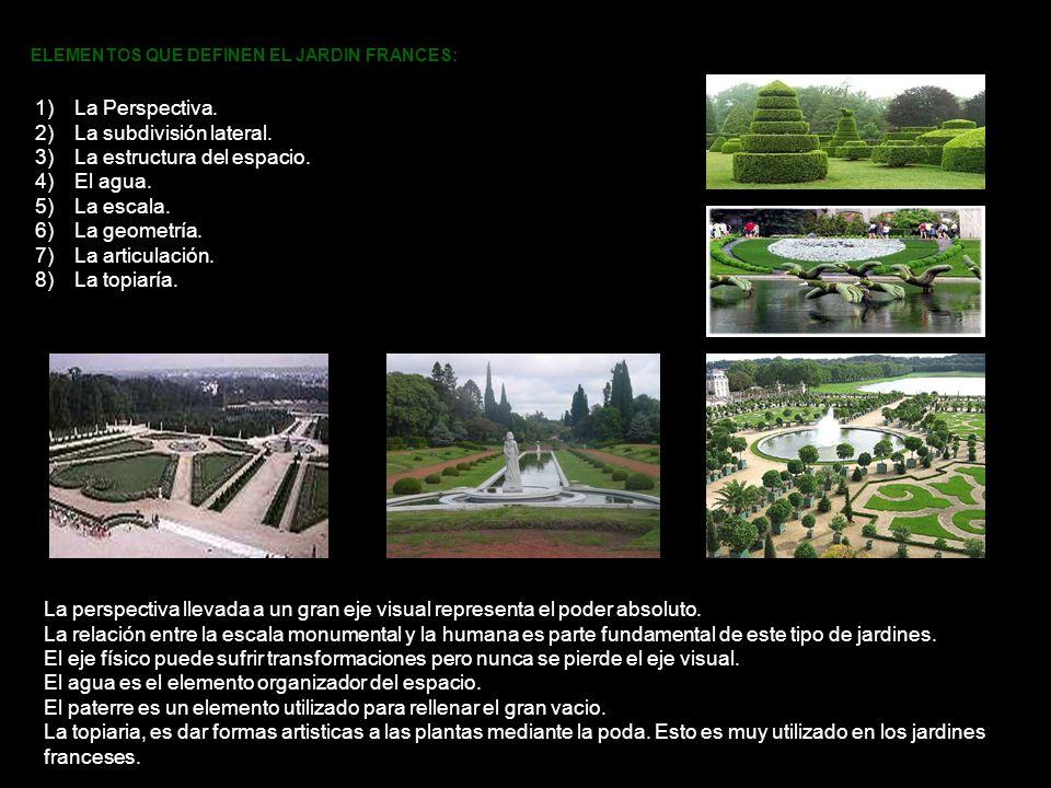 La subdivisión lateral. La estructura del espacio. El agua. La escala.
