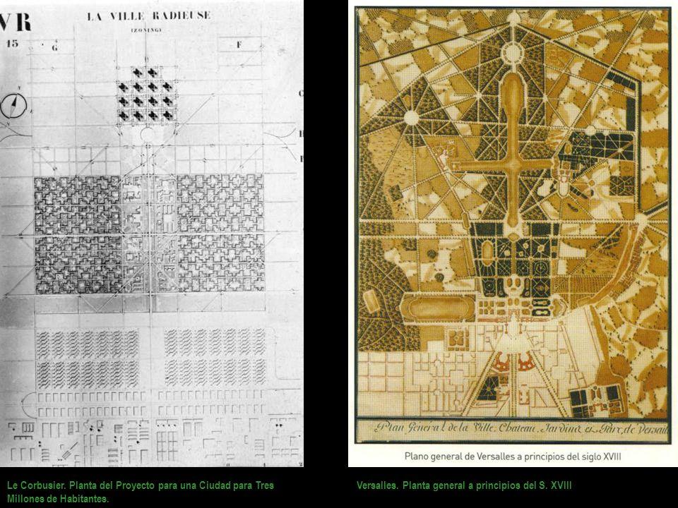 Le Corbusier. Planta del Proyecto para una Ciudad para Tres Millones de Habitantes.