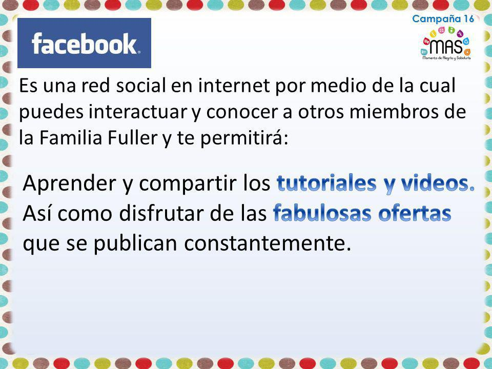 Aprender y compartir los tutoriales y videos.