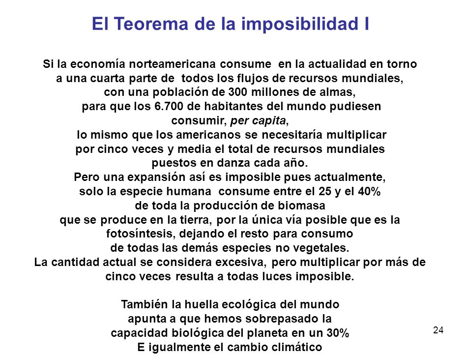 El Teorema de la imposibilidad I