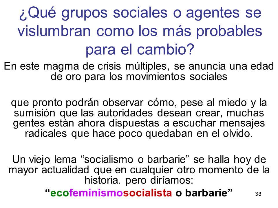 ecofeminismosocialista o barbarie