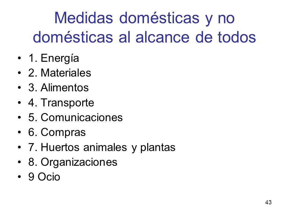 Medidas domésticas y no domésticas al alcance de todos