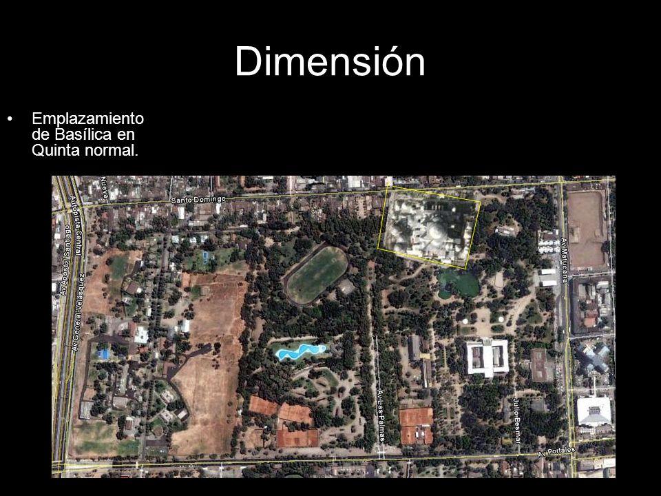 Dimensión Emplazamiento de Basílica en Quinta normal.