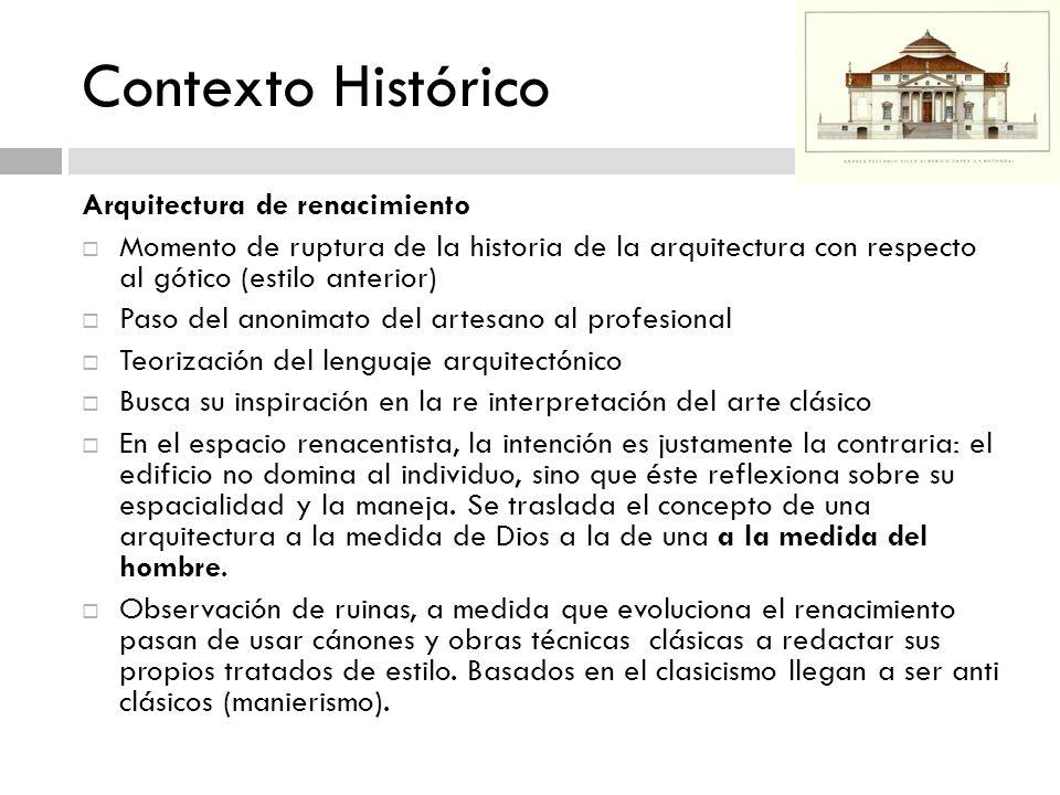 Contexto Histórico Arquitectura de renacimiento