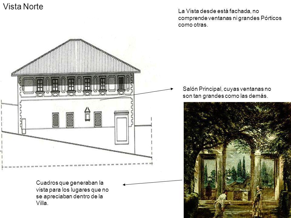 Vista Norte La Vista desde está fachada, no comprende ventanas ni grandes Pórticos como otras.