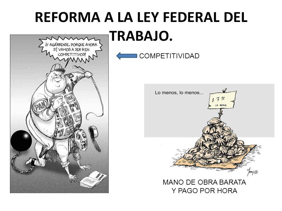 REFORMA A LA LEY FEDERAL DEL TRABAJO.