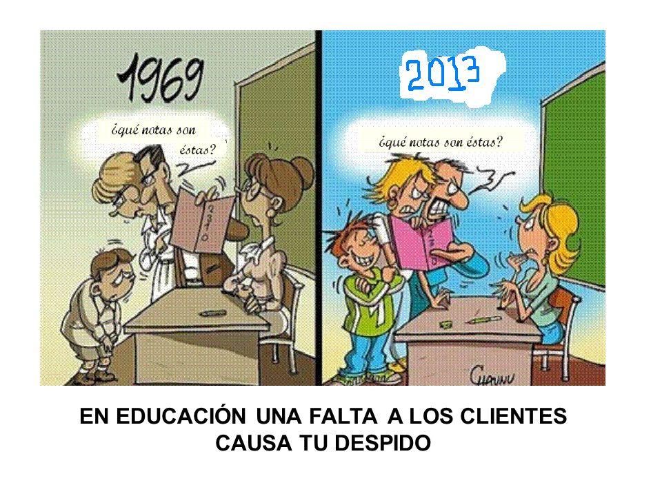 EN EDUCACIÓN UNA FALTA A LOS CLIENTES CAUSA TU DESPIDO