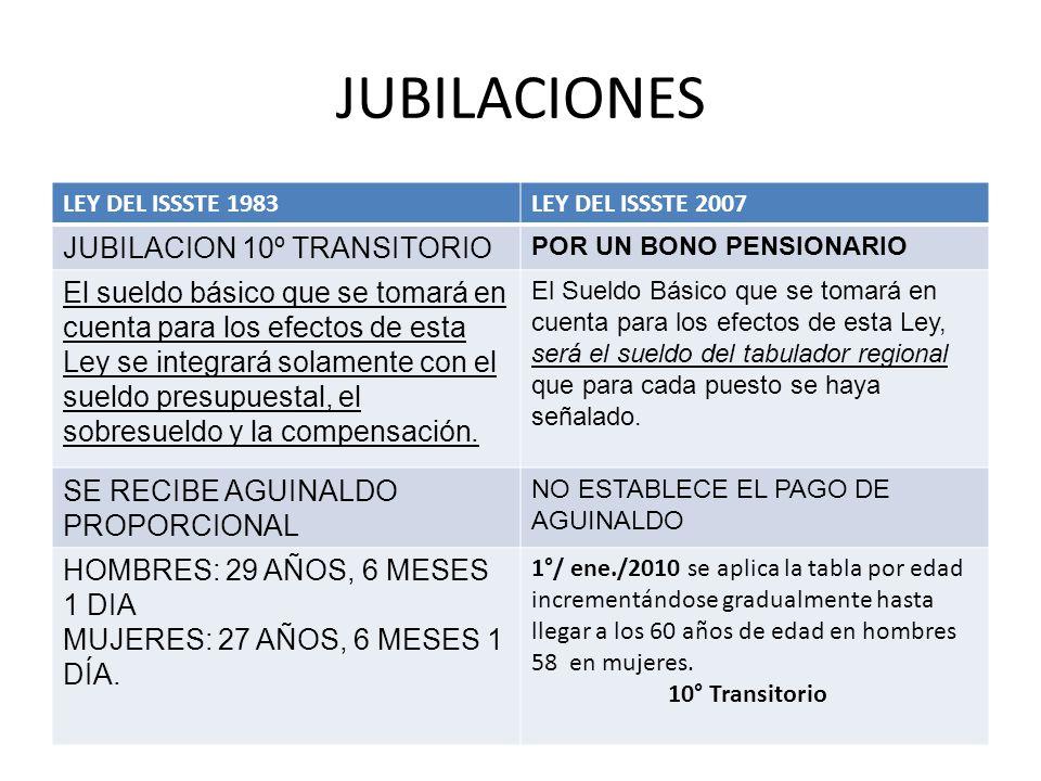 JUBILACIONES JUBILACION 10º TRANSITORIO