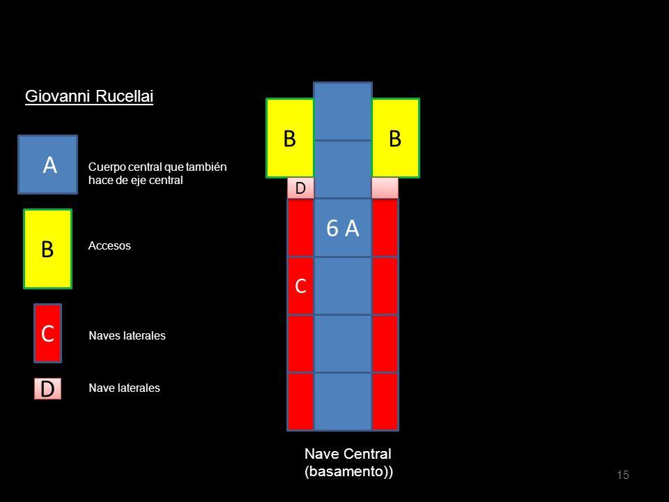 B B A 6 A B C D C D Giovanni Rucellai Nave Central (basamento))