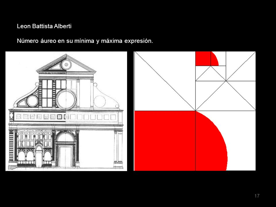 Leon Battista Alberti Número áureo en su mínima y máxima expresión.