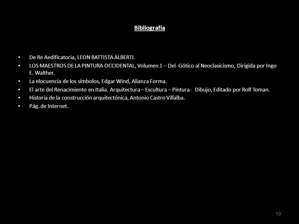 . Bibliografía De Re Aedificatoria, LEON BATTISTA ALBERTI.