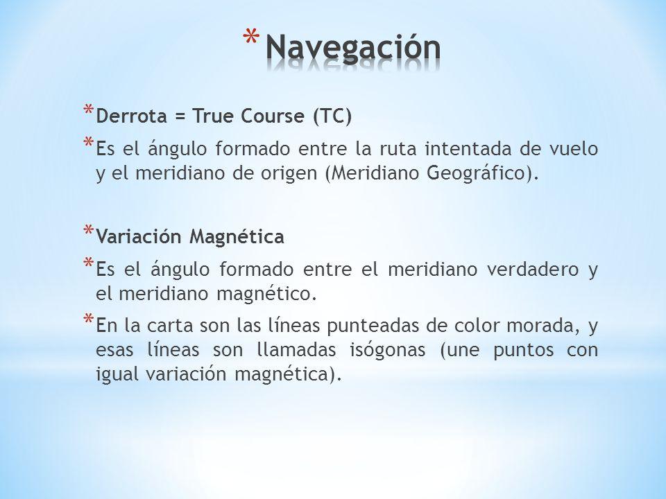 Navegación Derrota = True Course (TC)