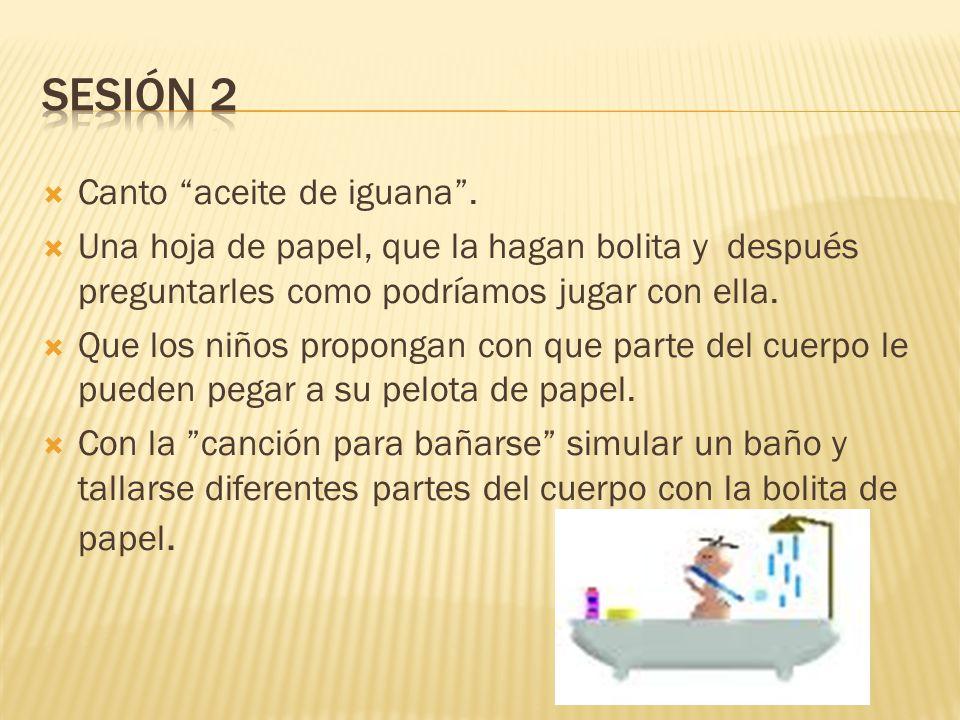 Sesión 2 Canto aceite de iguana .