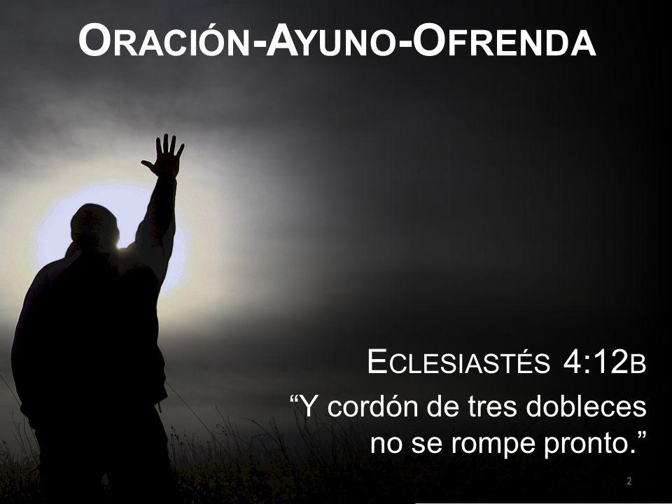 Oración-Ayuno-Ofrenda