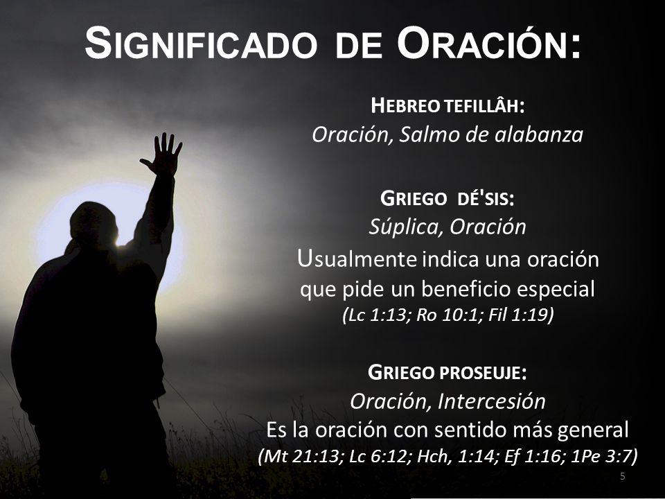 Significado de Oración: