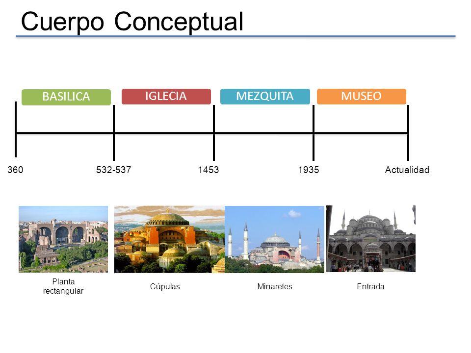 Cuerpo Conceptual BASILICA IGLECIA MEZQUITA MUSEO 360 532-537 1453