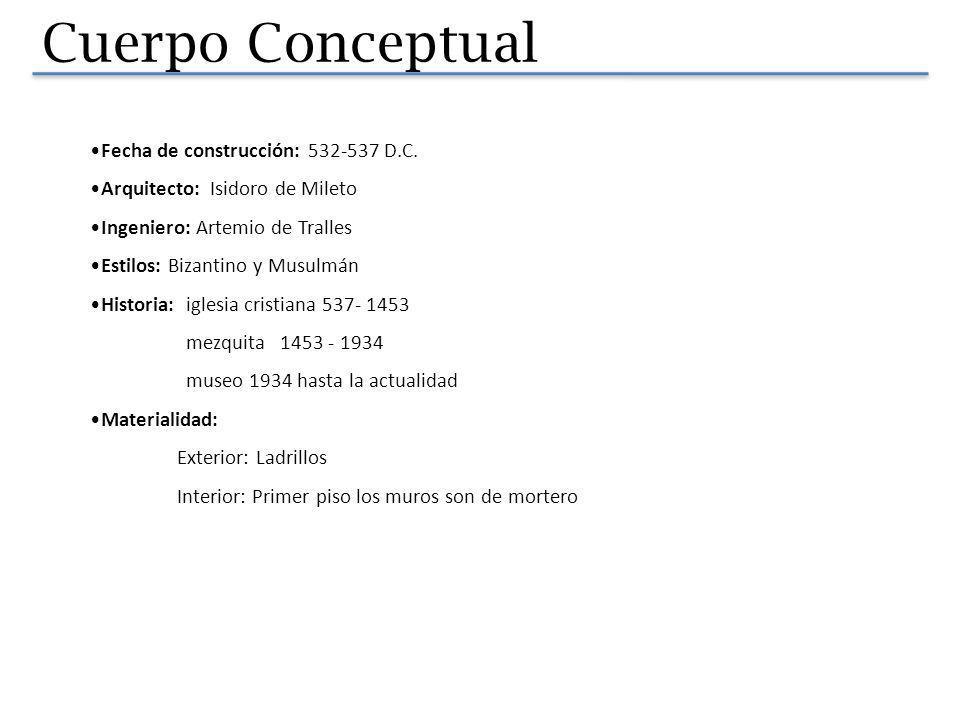 Cuerpo Conceptual Fecha de construcción: 532-537 D.C.
