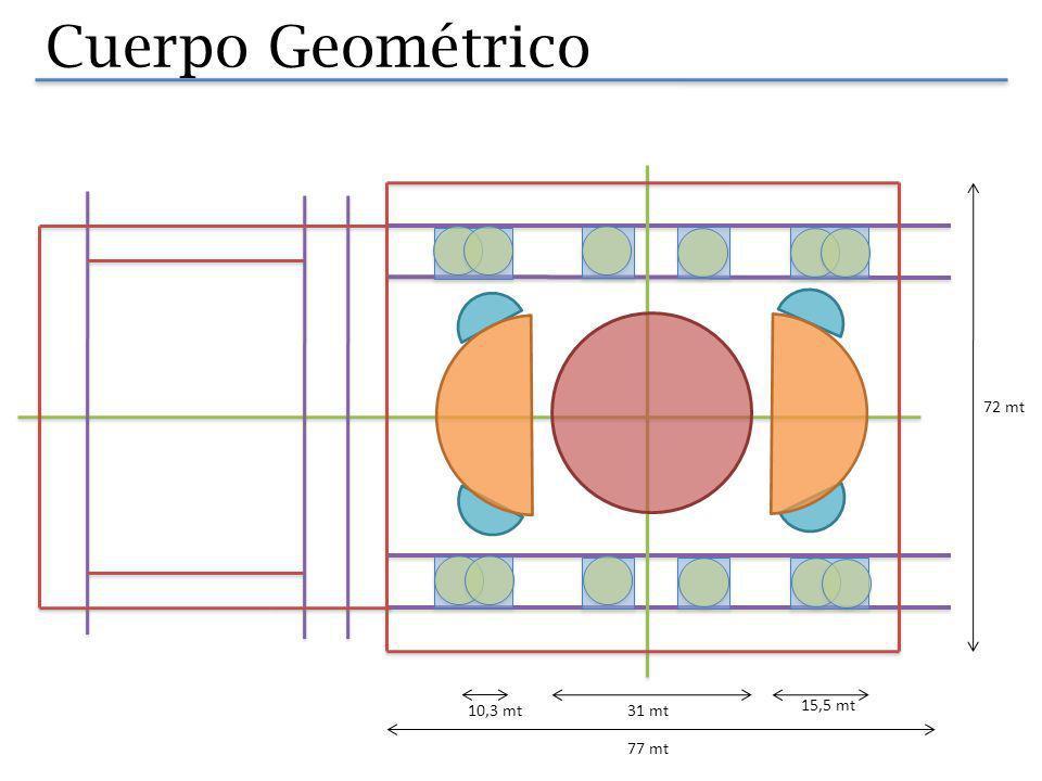 Cuerpo Geométrico 72 mt 10,3 mt 31 mt 15,5 mt 77 mt