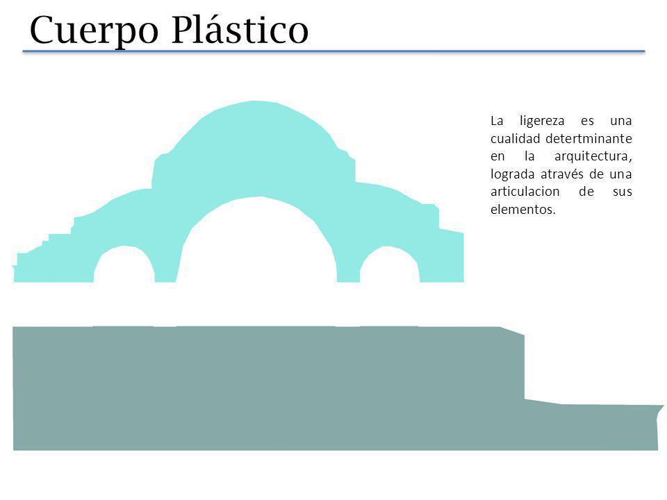 Cuerpo Plástico La ligereza es una cualidad detertminante en la arquitectura, lograda através de una articulacion de sus elementos.