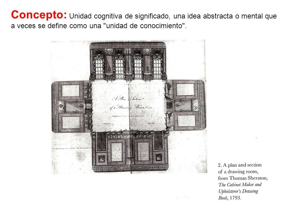 Concepto: Unidad cognitiva de significado, una idea abstracta o mental que a veces se define como una unidad de conocimiento .