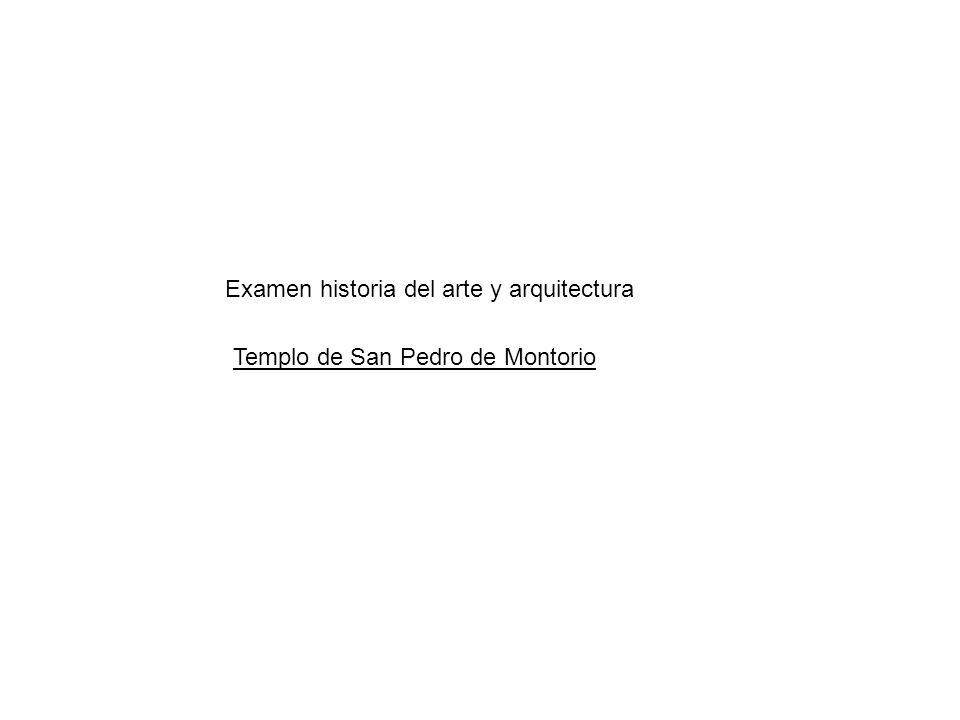 Examen historia del arte y arquitectura