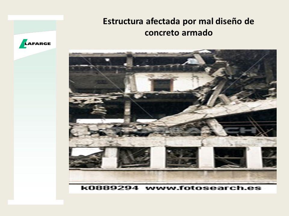 Estructura afectada por mal diseño de concreto armado