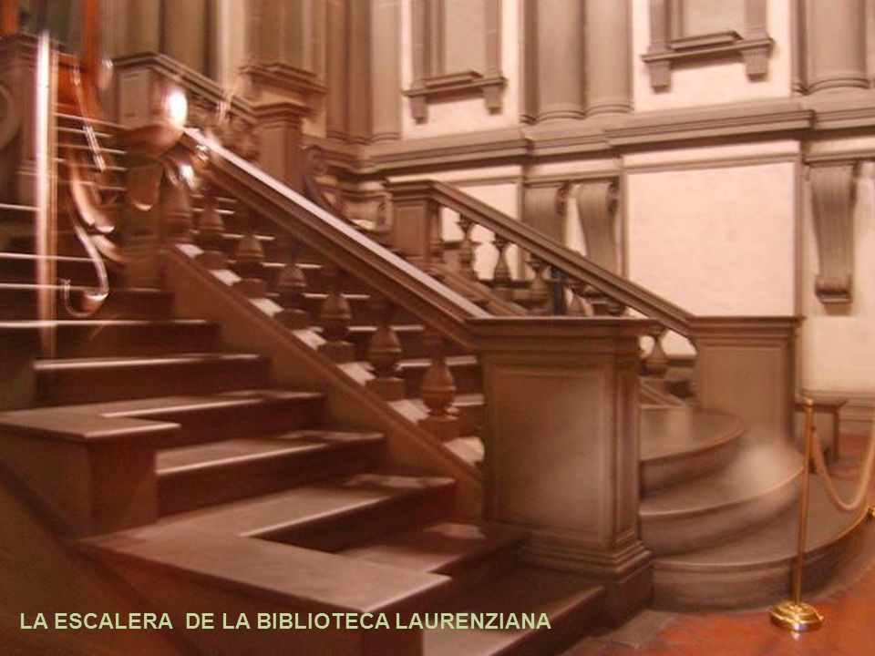 La escalera de la biblioteca laurenziana ppt video for Biblioteca debajo de la escalera
