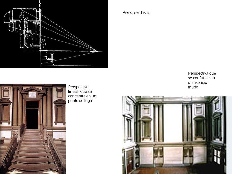 Perspectiva Perspectiva que se confunde en un espacio mudo
