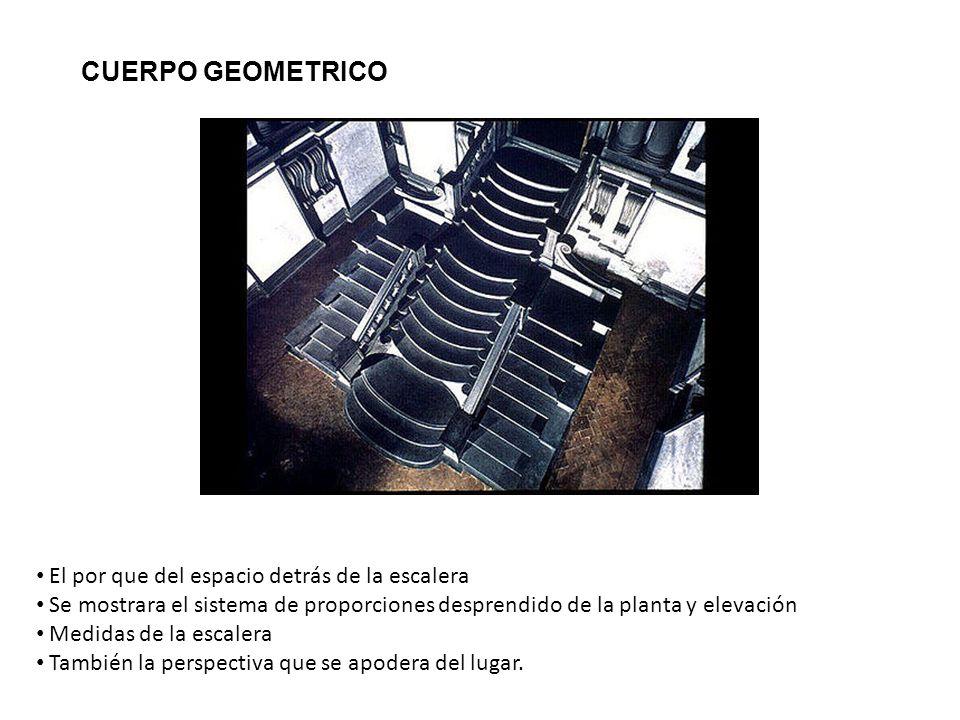 CUERPO GEOMETRICO El por que del espacio detrás de la escalera