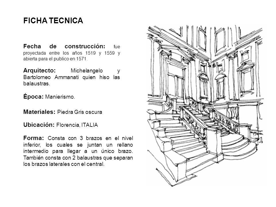 FICHA TECNICA Fecha de construcción: fue proyectada entre los años 1519 y 1559 y abierta para el publico en 1571.