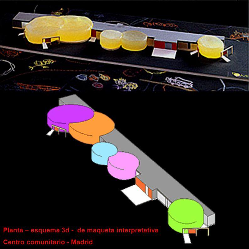 Planta – esquema 3d - de maqueta interpretativa