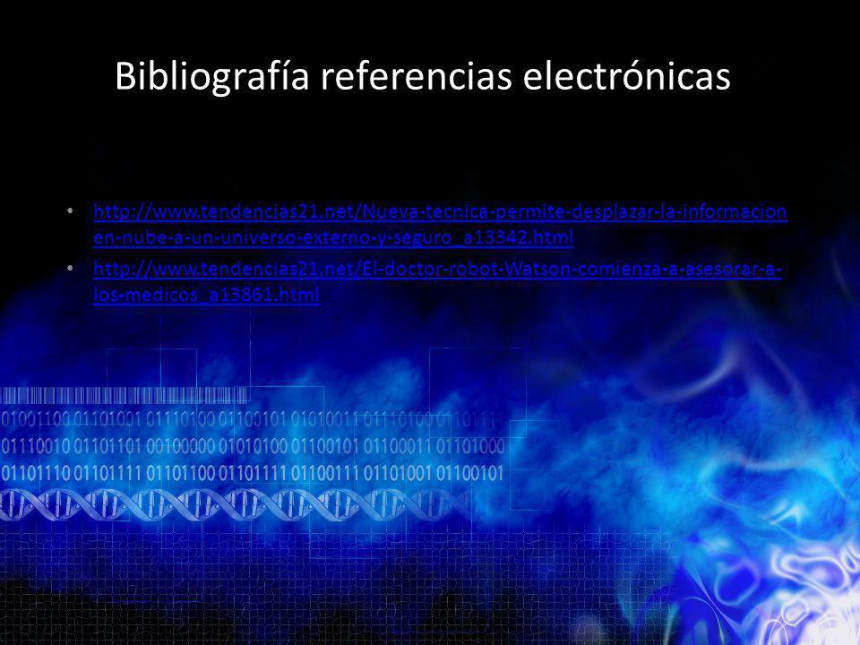 Bibliografía referencias electrónicas