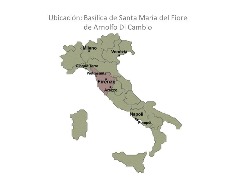 Ubicación: Basílica de Santa María del Fiore de Arnolfo Di Cambio