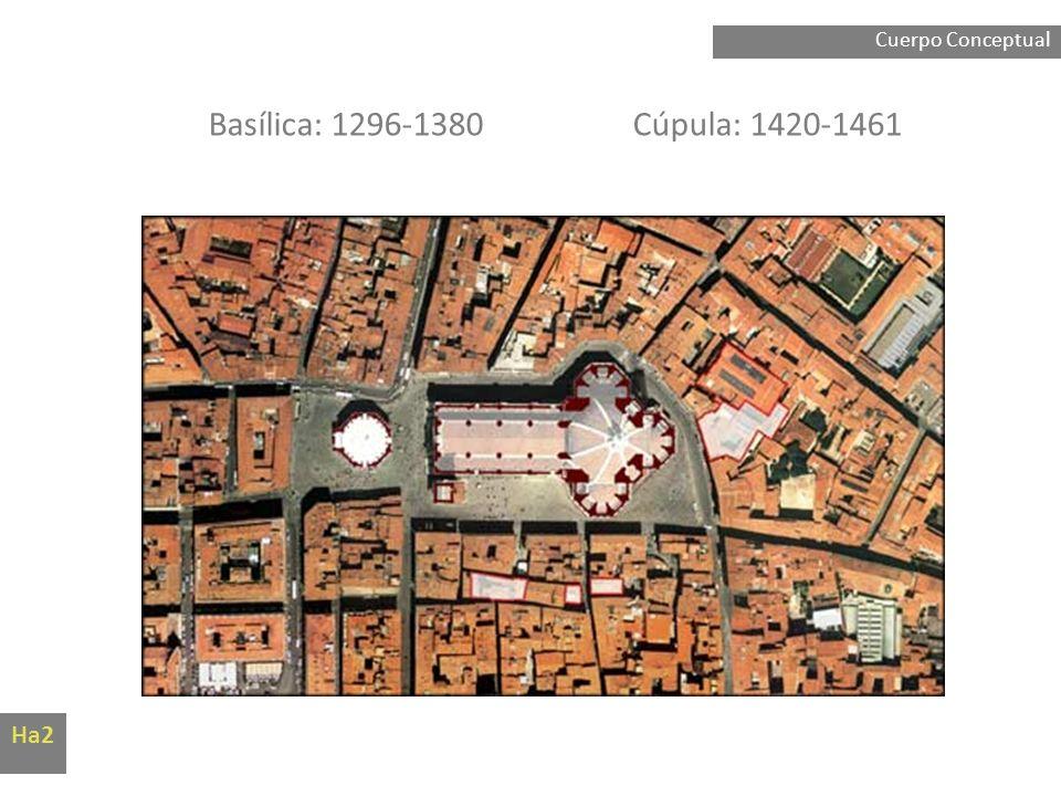 Cuerpo Conceptual Basílica: 1296-1380 Cúpula: 1420-1461 Ha2