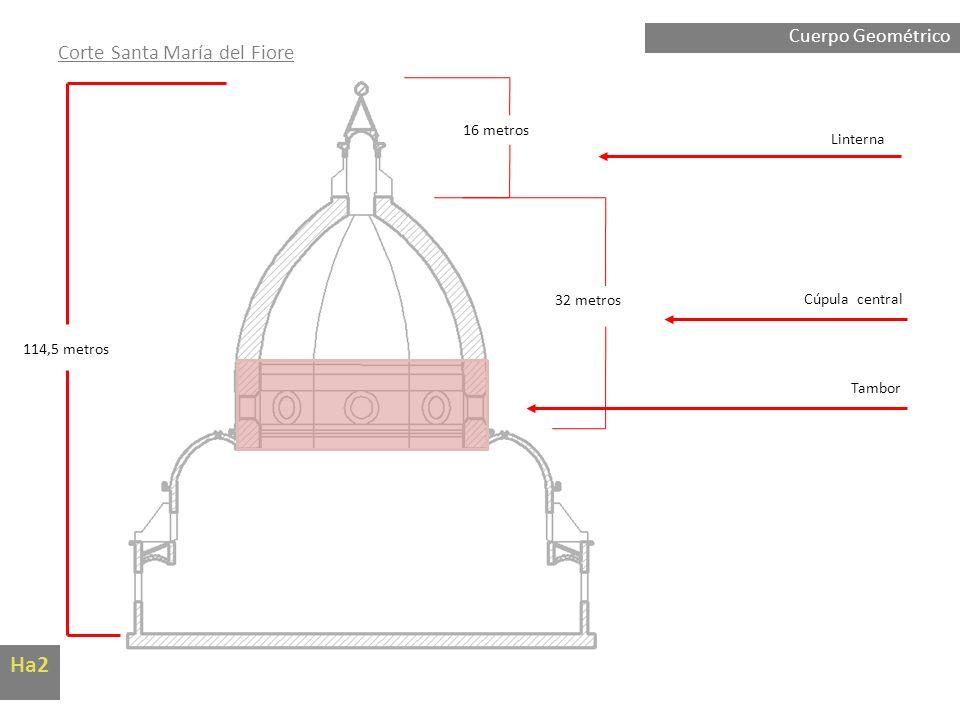 Ha2 Corte Santa María del Fiore Cuerpo Geométrico 16 metros Linterna