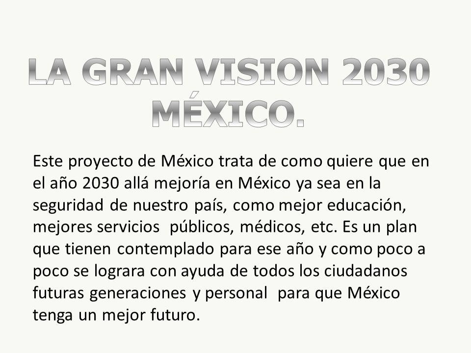 LA GRAN VISION 2030 MÉXICO.