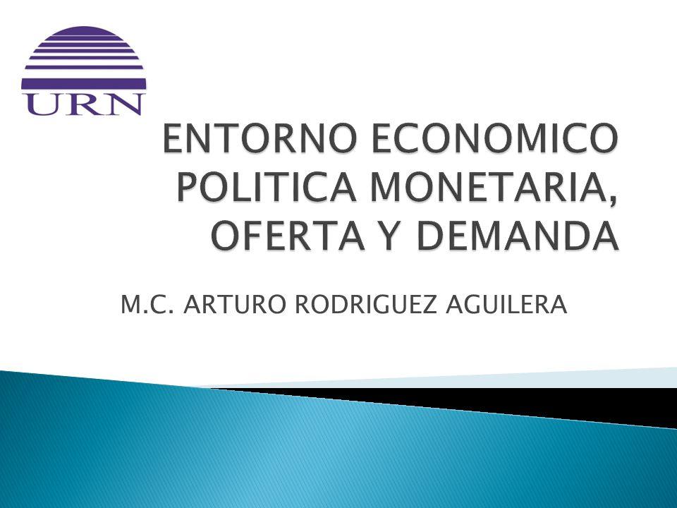 ENTORNO ECONOMICO POLITICA MONETARIA, OFERTA Y DEMANDA