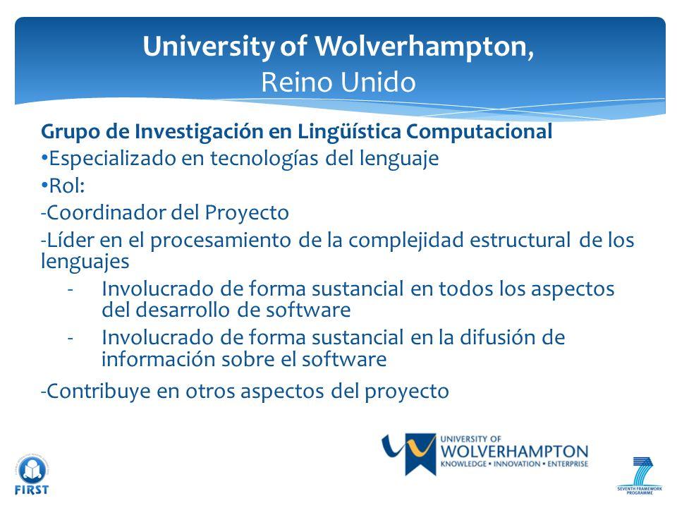 University of Wolverhampton, Reino Unido
