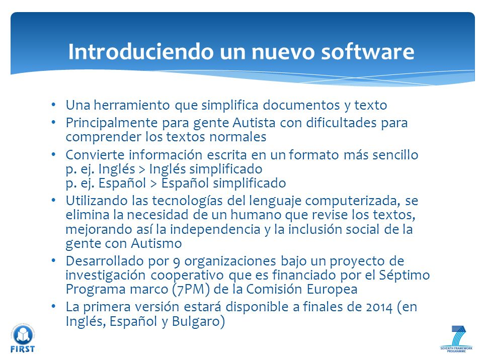Introduciendo un nuevo software