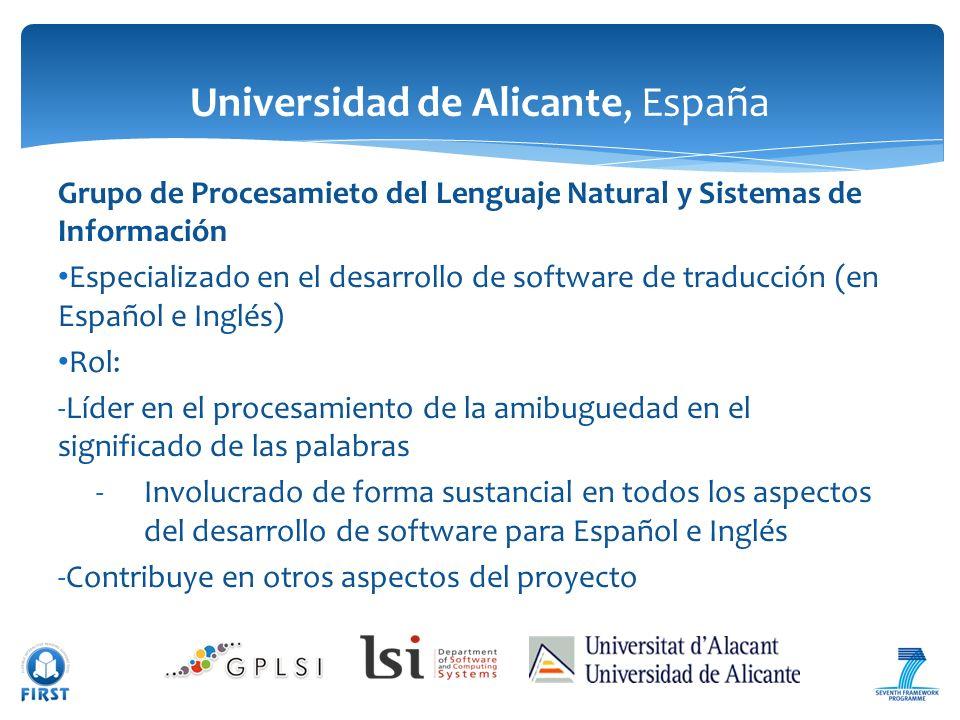 Universidad de Alicante, España