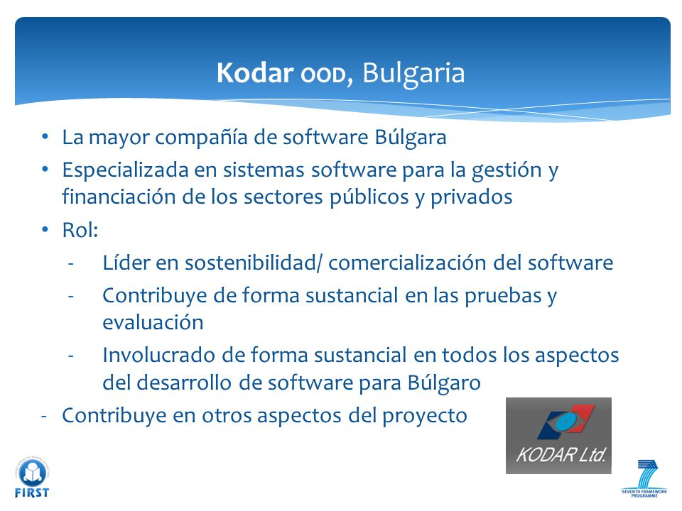 Kodar OOD, Bulgaria La mayor compañía de software Búlgara