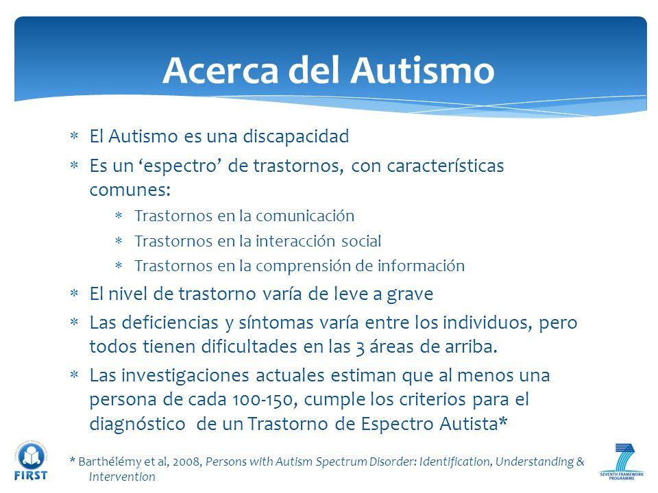 Acerca del Autismo El Autismo es una discapacidad