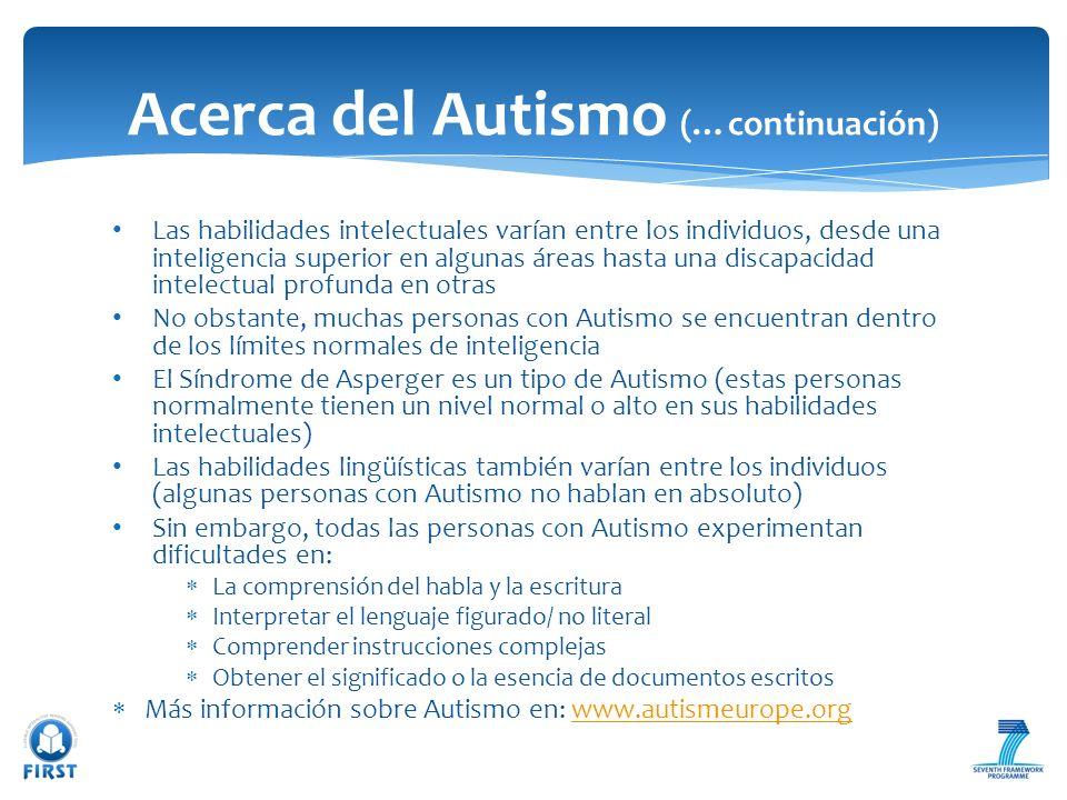Acerca del Autismo (…continuación)