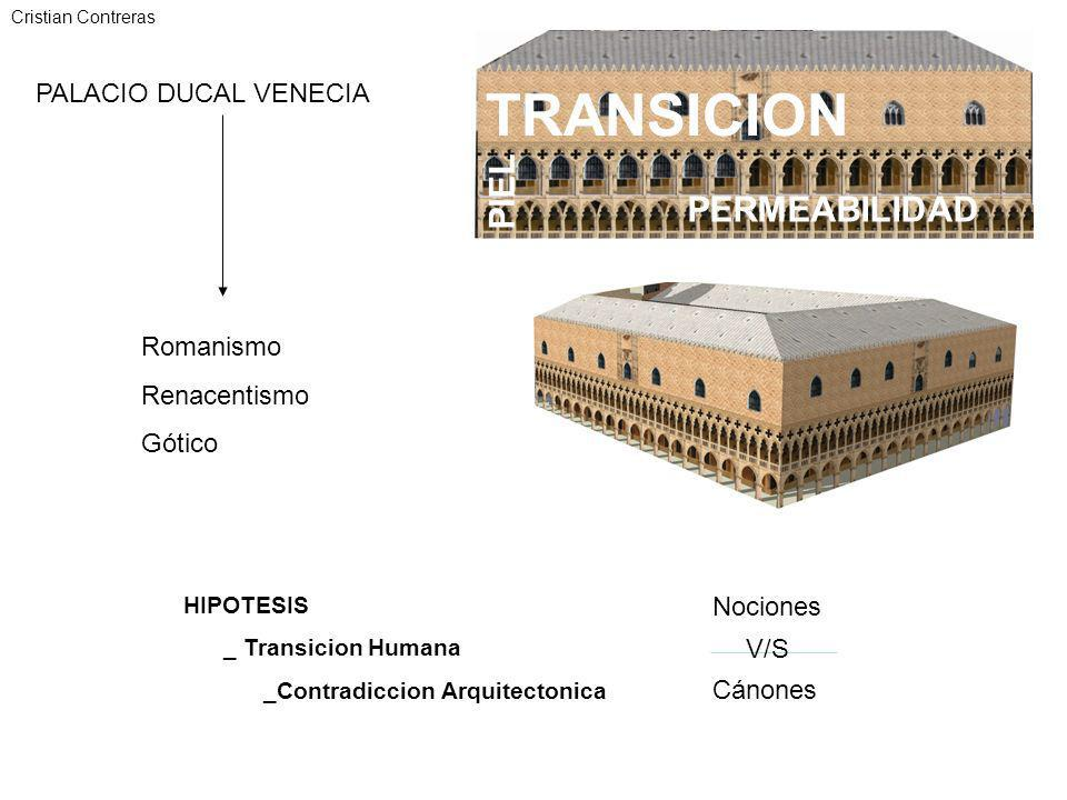 TRANSICION PIEL PERMEABILIDAD PALACIO DUCAL VENECIA Romanismo
