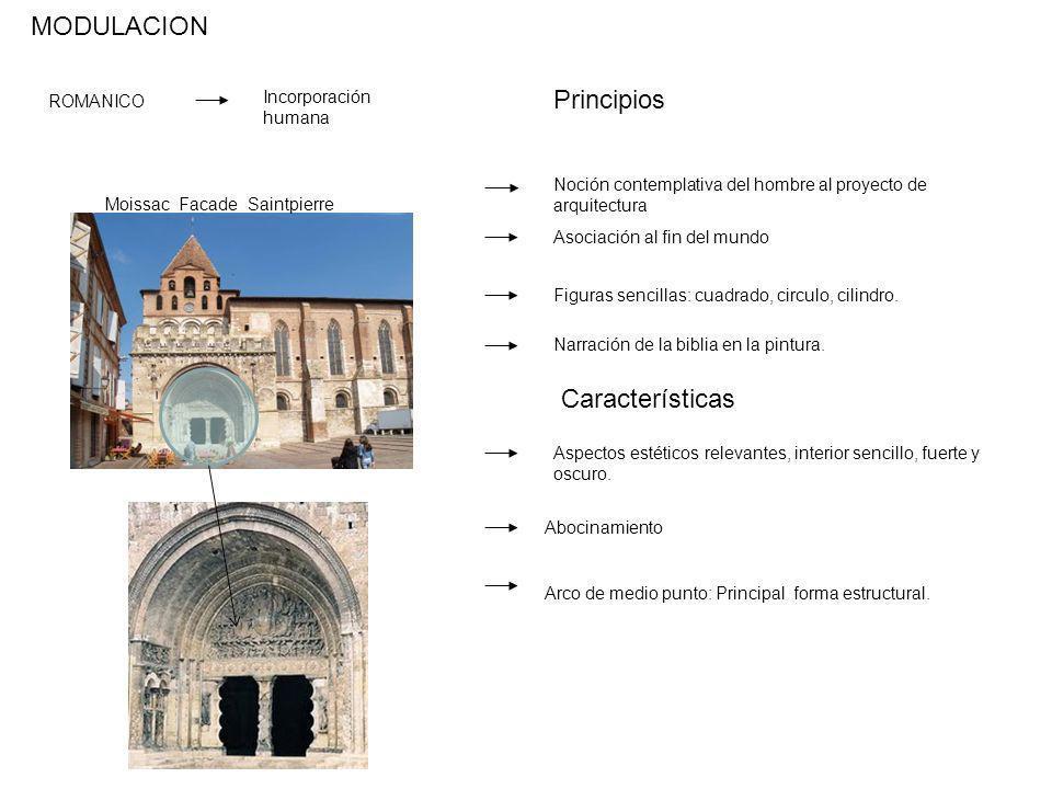 MODULACION Principios Características Incorporación humana ROMANICO