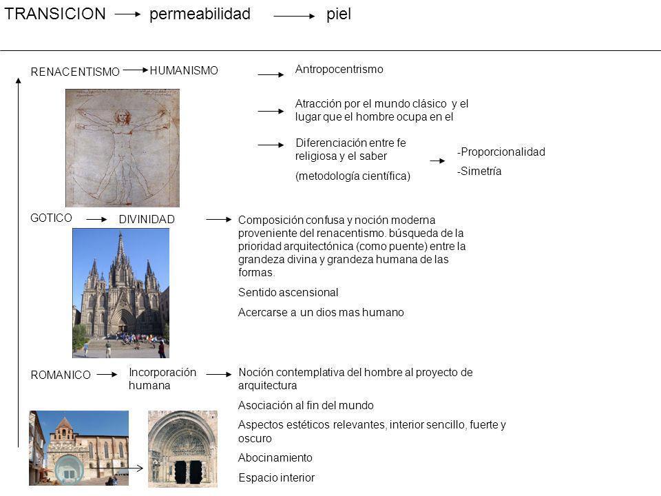 TRANSICION permeabilidad piel RENACENTISMO HUMANISMO Antropocentrismo